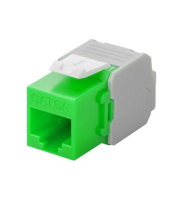 CAT6a UTP Keystone Netzwerkstecker - Toolless - Grün