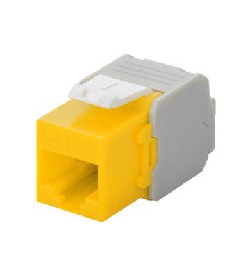 CAT6a UTP Keystone Netzwerkstecker - Toolless - Gelb