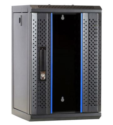 "9 HE, 10"" Serverschrank, mit Glastür, (BxTxH) 312x310x486mm"
