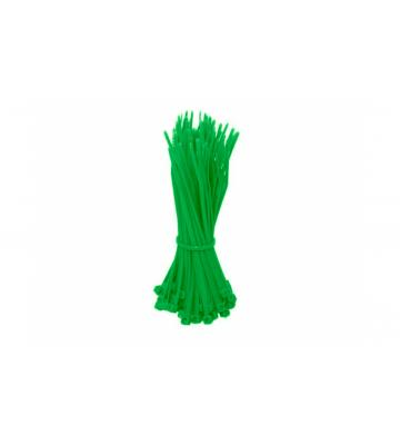 Kabelbinder 200mm - Grün - 100 Stück