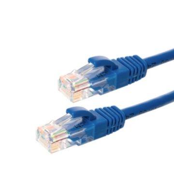 CAT6 Netzwerkkabel, U/UTP, 1 meter, Blau, 100% Kupfer