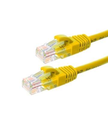 CAT6 Netzwerkkabel, U/UTP, 0,25 Meter, Gelb, 100% Kupfer