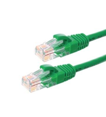 CAT6 Netzwerkkabel, U/UTP, 0,25 Meter, Grün, 100% Kupfer