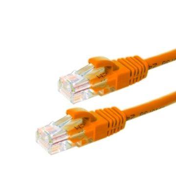 CAT6 Netzwerkkabel, U/UTP, 0.50 meter, Orange, 100% Kupfer