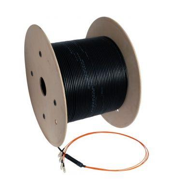 OM2 Glasfaserkabel-Maßanfertigung 8 Fasern inkl. Konnektoren